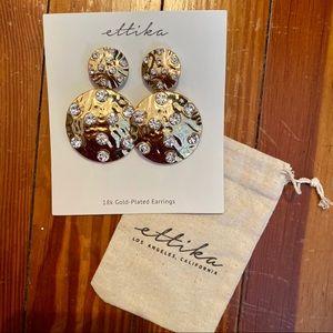 Ettika 18k Gold-Plated Drop Earrings Brand New